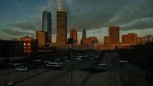 Colorful Sunrise Timelapse Of The South Side Of Downtown Oklahoma City, OK.