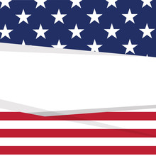Colored Background With The Flag Of United States. Vector Illustration Design