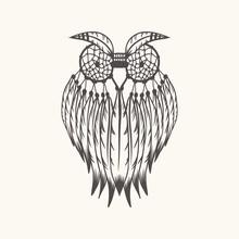 Dreamcatcher Owl Vector Illust...