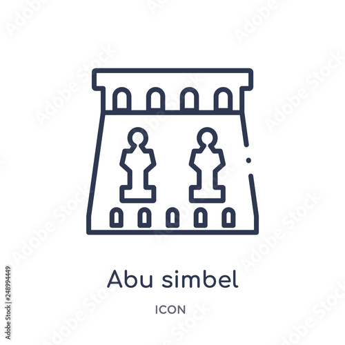 Fotografie, Obraz  abu simbel icon from monuments outline collection