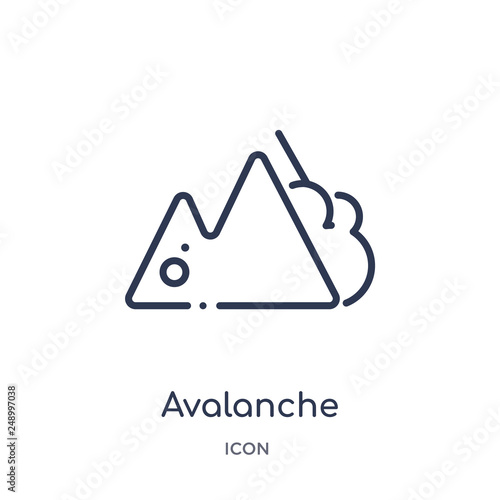 Foto avalanche icon from winter outline collection