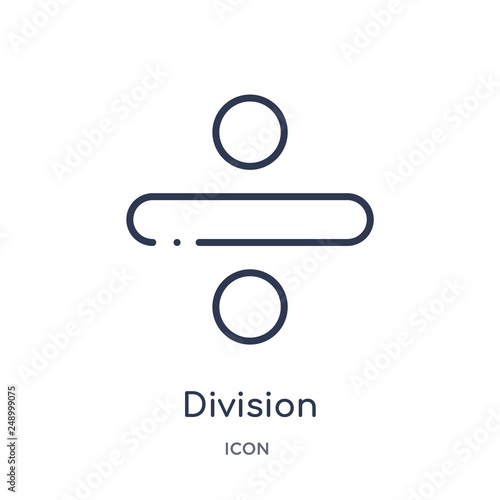 Photo  division icon from user interface outline collection