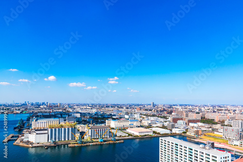 Photo  (千葉県ー湾岸風景)展望台から望む千葉港3