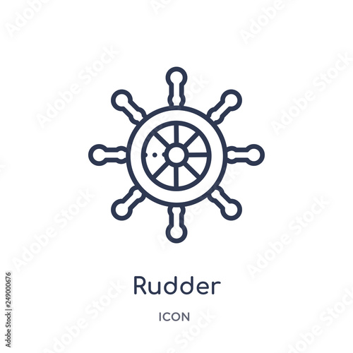 rudder icon from travel outline collection фототапет