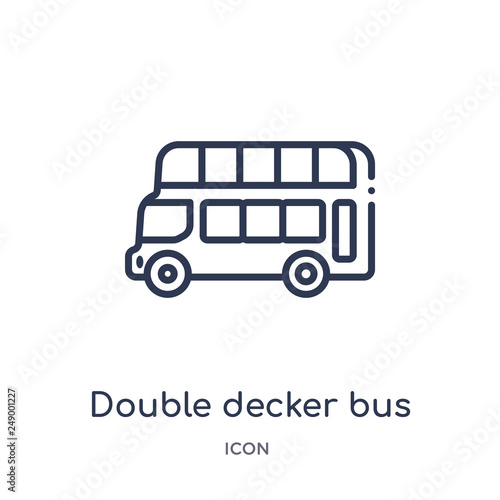 Fotografie, Tablou  double decker bus icon from transportaytan outline collection