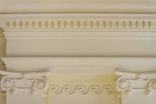 Beautiful Architectural Detail Of Vintage Greek-Roman Styles Columns Pattern.