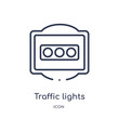 traffic lights icon from traffic signs outline collection. Thin line traffic lights icon isolated on white background.