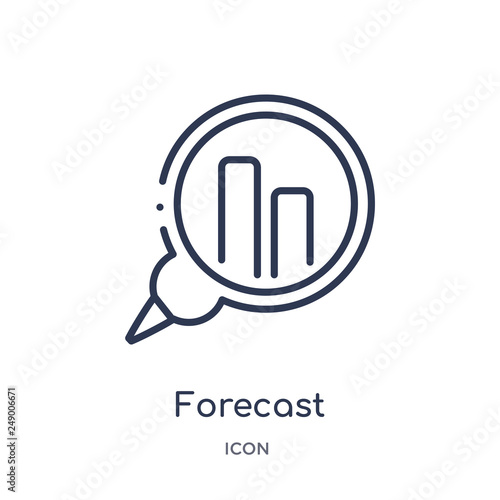 Fotografía  forecast icon from strategy outline collection