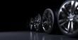 Leinwandbild Motiv Alloy wheels tire auto cast