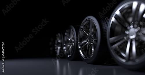 Cuadros en Lienzo  Alloy wheels tire auto cast