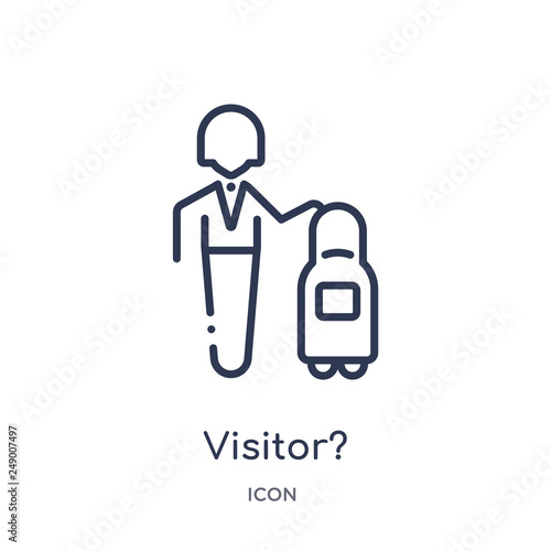 Fotografie, Obraz  visitor? icon from strategy outline collection
