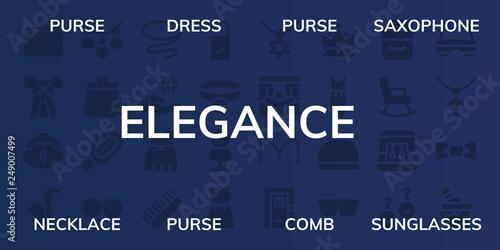 Fotografie, Obraz  elegance icon set
