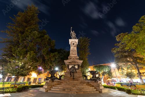 Fényképezés  100 years old monument of La corregidora local hero in Queretaro Mexico
