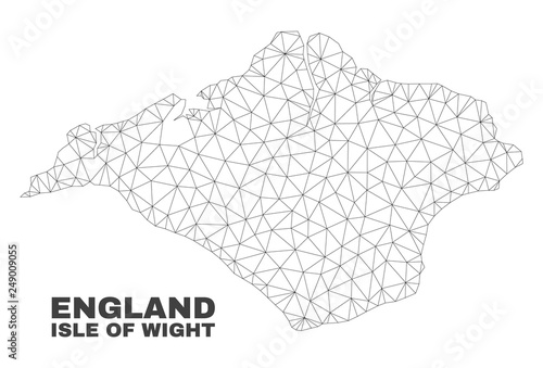 Abstract Isle of Wight map isolated on a white background Fototapeta