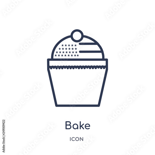 Fotografía  bake icon from united states of america outline collection