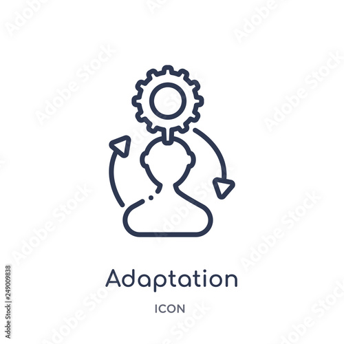adaptation icon from startup outline collection Canvas-taulu