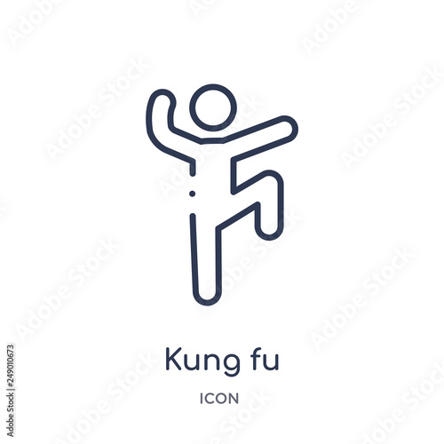 Fotografia, Obraz  kung fu icon from sport outline collection