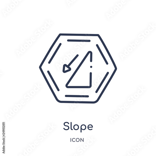 Fotografía  slope icon from signs outline collection