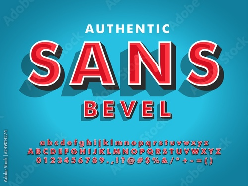 modern sans serif font with 3d beveled  compatible with illustrator 10 Canvas-taulu