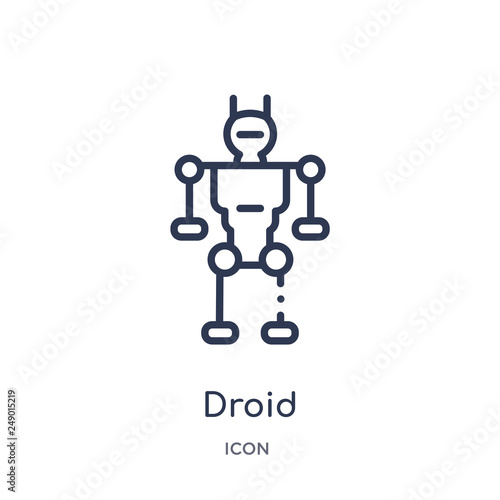 Fotografie, Obraz  droid icon from science outline collection