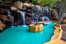 Waterfall With Swimming Pool I...