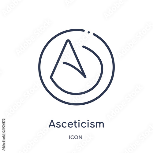 asceticism icon from religion outline collection Wallpaper Mural