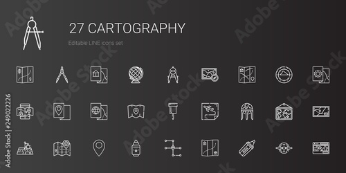 Fotografía cartography icons set