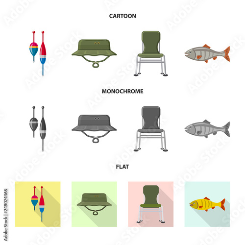 Fotografie, Obraz  Isolated object of fish and fishing logo
