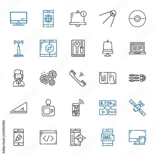 Photo  phone icons set
