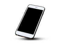 Mobile Smart Phone On White Ba...
