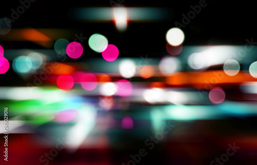Abstract bokeh backgrounds with speed effect Fototapete