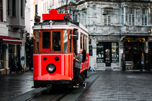 Girl In A Vintage Tram On The ...