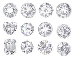 diament i kamień szlachetny na jasnym tle