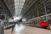 Empty Train Station Under Suns...