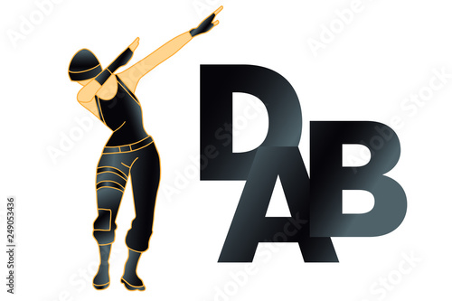 Photo  DAB dance, t shirt. Vector