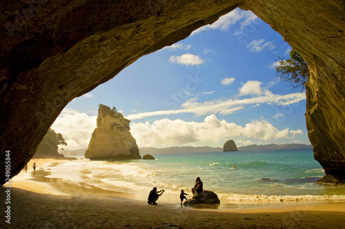 Tuinposter Cathedral Cove Cathedral Cove at Coromandel Peninsula, North Island, New Zealand.