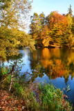 Piękny jesienny krajobraz, jezioro