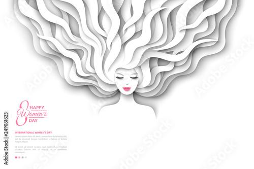 Plakaty do antyram, ramek lub samoprzylepne pretty-girl-with-white-paper-hair