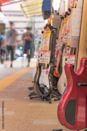 Spoed Foto op Canvas Muziekwinkel Ochanomizu district in Tokyo close to Meiji University whose main street known as Guitar Street, which is lined on both sides with guitar shops, violin shops or saxophone shops.