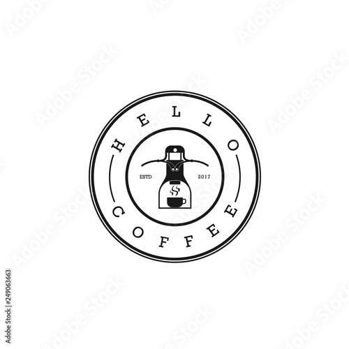 Coffee Roaster Logo. Fototapeta