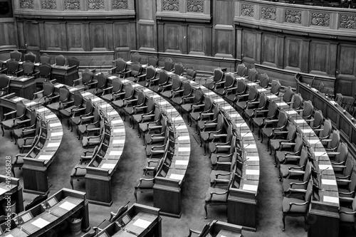 Fotografia Danish parliament in Copenhagen, Denmark