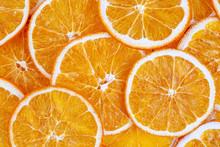 Dried Orange Isolated, On The White Background