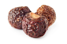Soap Nuts (soapberries) Isolated On White Background. Chemical And Toxin Free Laundry, Organic Detergent