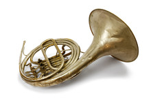 Old Vintage French Horn