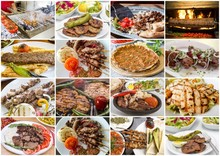 Traditional Delicious Turkish Foods Collage. Food Concept.