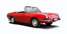 Red Classic Italian Sport Car