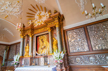 Holy Picture Of Mother Of God, Gate Of DawnView From The Gate Of Dawn (Ostra Brama) In Vilnius, Lithuania.