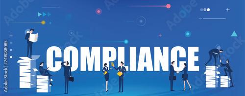 Compliance Banner Concept Fototapet
