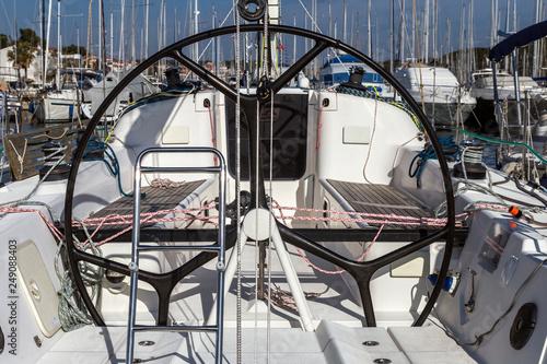 Cuadros en Lienzo Sailing boat helm