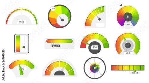 Fotografie, Obraz  Speedometer icons
